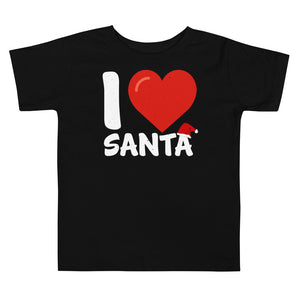 I Love Santa Toddler Short Sleeve Tee - Crazy About Tshirts