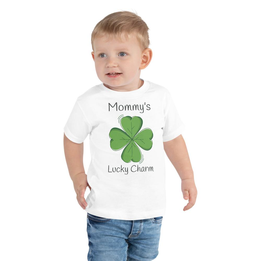 Mommy's Lucky Charm Toddler Short Sleeve Tee - Crazy About Tshirts