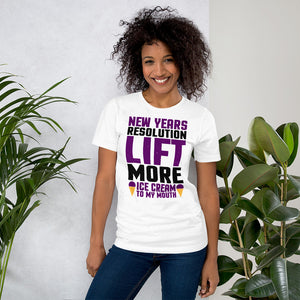 Lift More Ice Cream Short-Sleeve Unisex T-Shirt - Crazy About Tshirts
