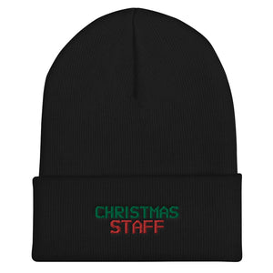 CHRISTMAS STAFF Cuffed Beanie - Crazy About Tshirts