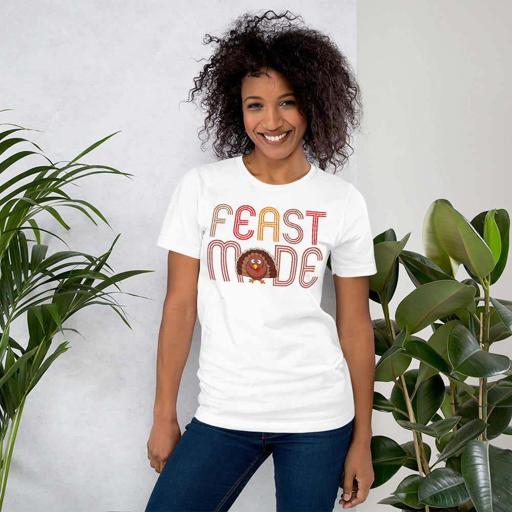 Feast Mode Women's Short-Sleeve Bella T-Shirt - Crazy About Tshirts