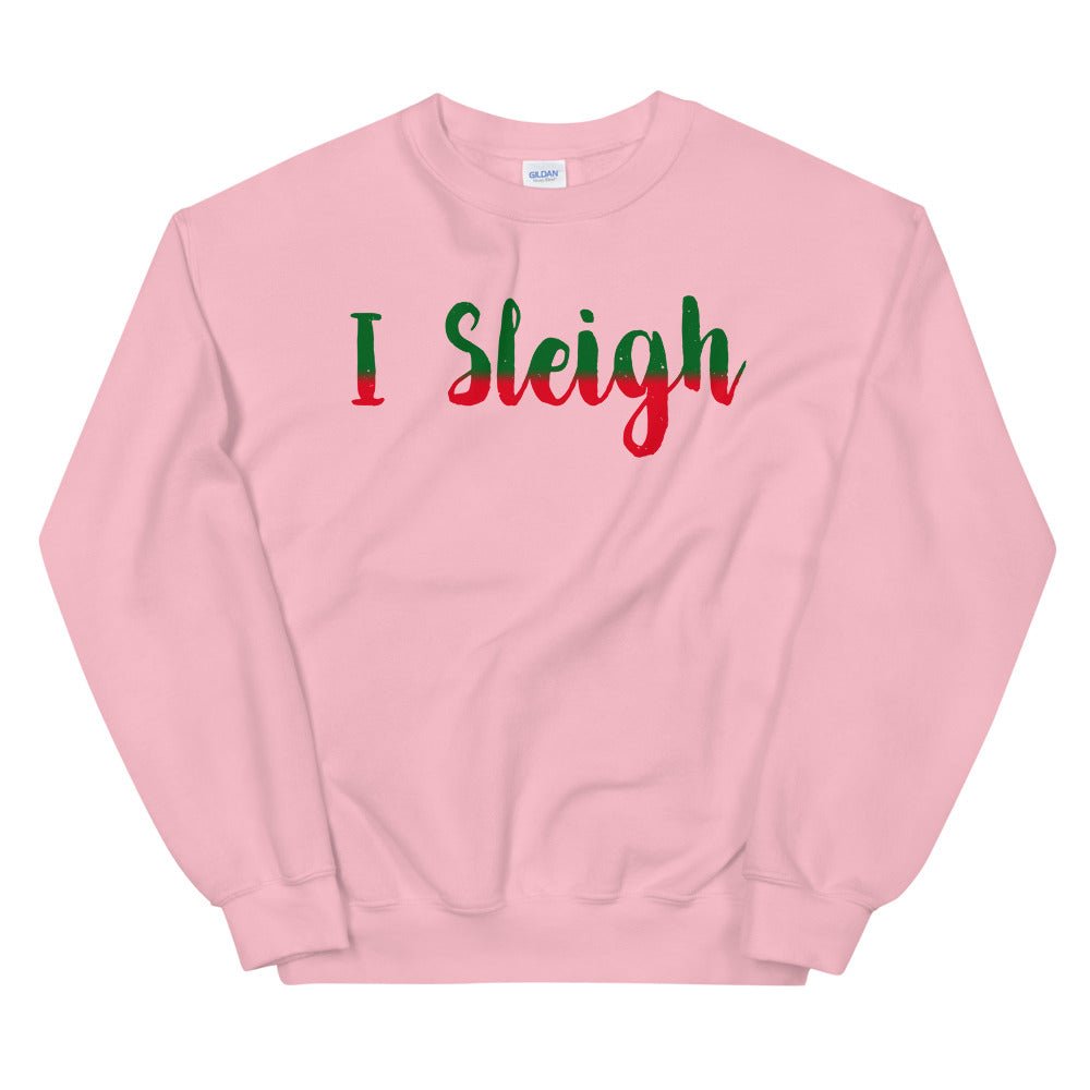 I Sleigh Long Sleeved Sweatshirt - Crazy About Tshirts