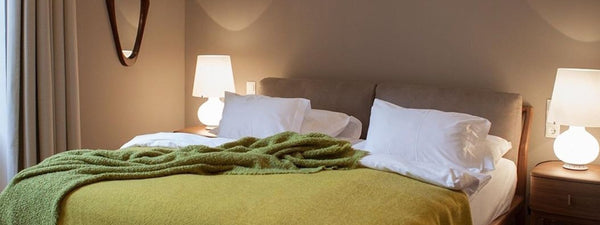 Society Limonta in Vienna. Throws and blankets for the Design Hotel Altstadt