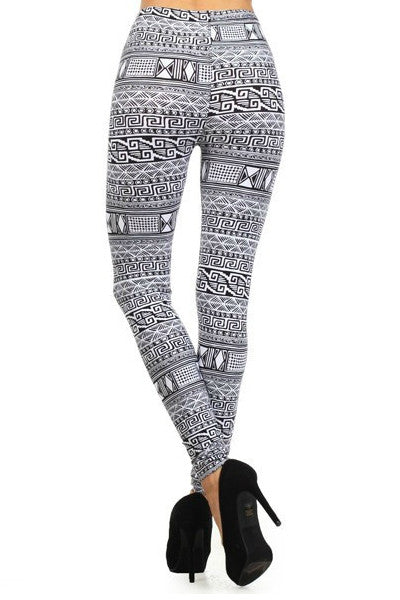 Greek Pattern Leggings