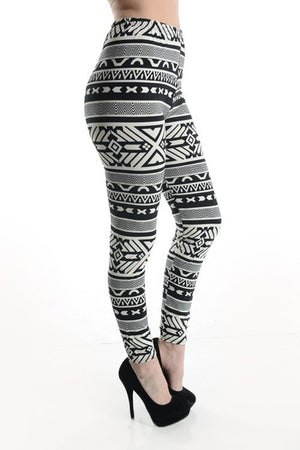 Large Cross Pattern Leggings