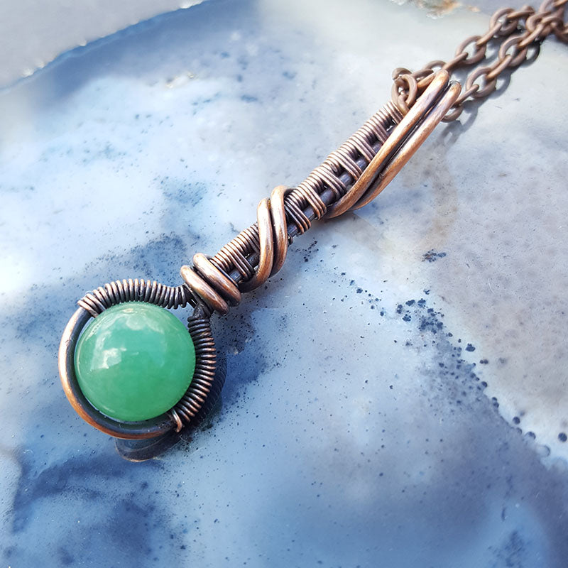 Copper Droplet Necklace