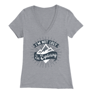 I'm Not Lost I'm Exploring - V-Neck Tee