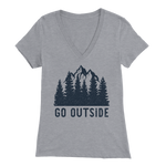 Go Outside - V-Neck Tee