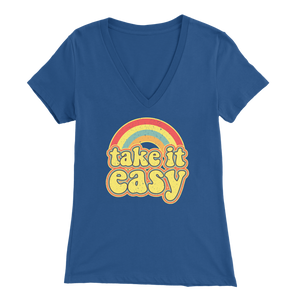 Take It Easy - V-Neck Tee