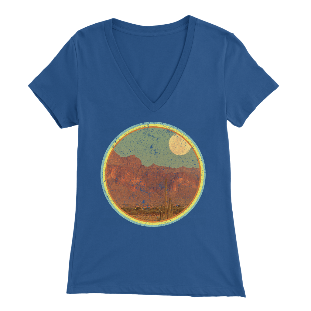 Desert Moonrise - V-Neck Tee