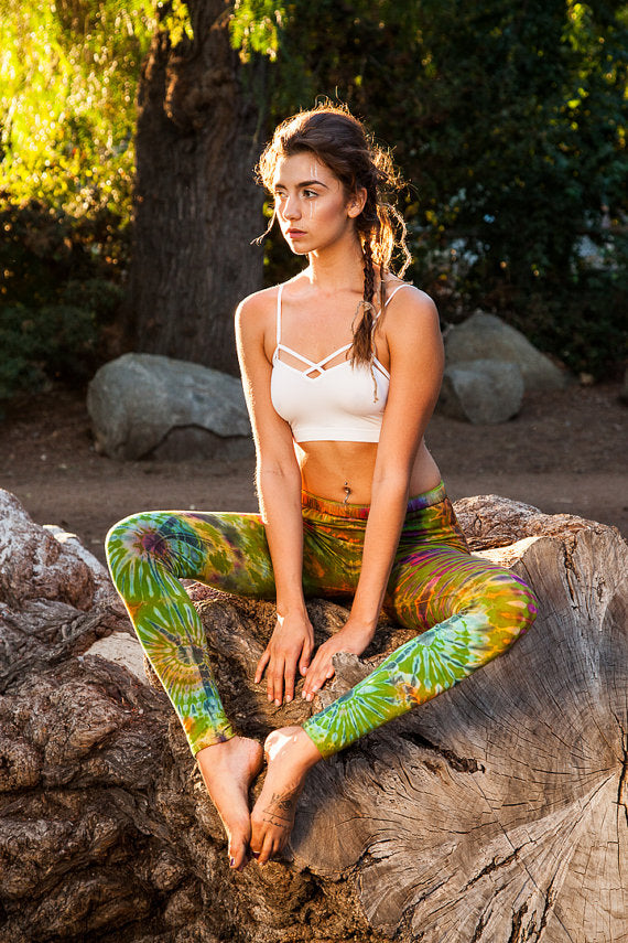 High Thai Green Tie Dye Leggings