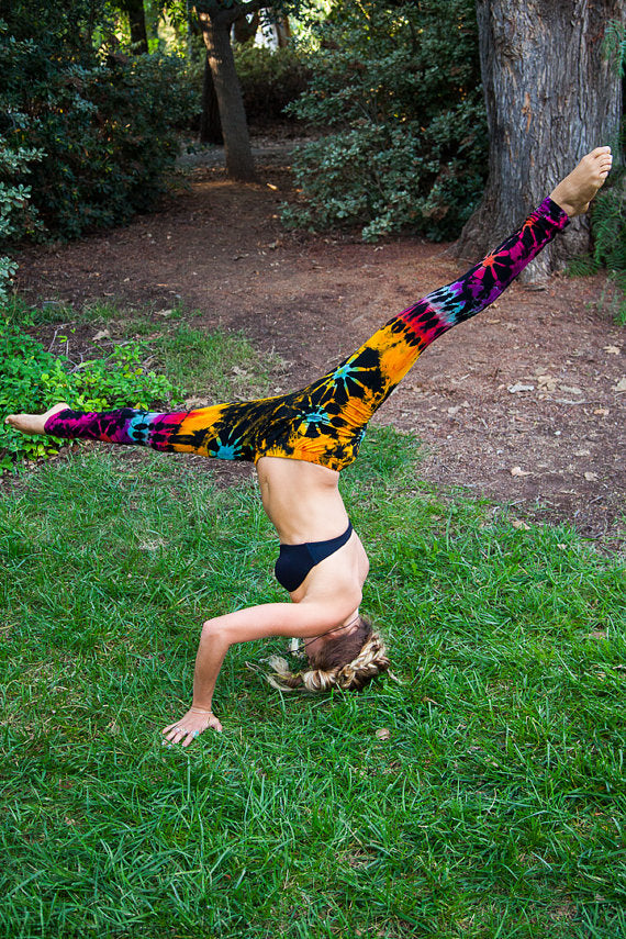 High Thai Rainbow Tie Dye Leggings