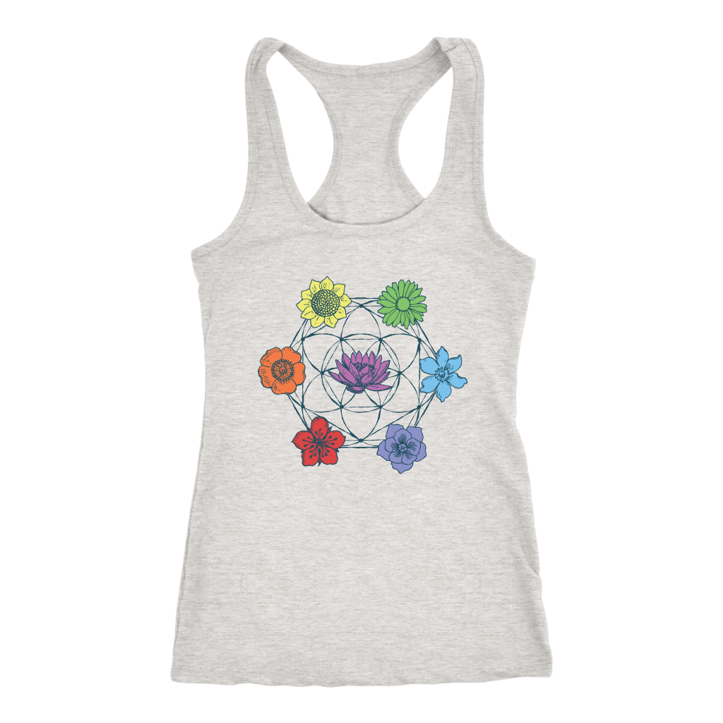 7 Chakra Flower of Life - Tank Top