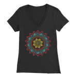 Tribal Flower Mandala - V-Neck Tee