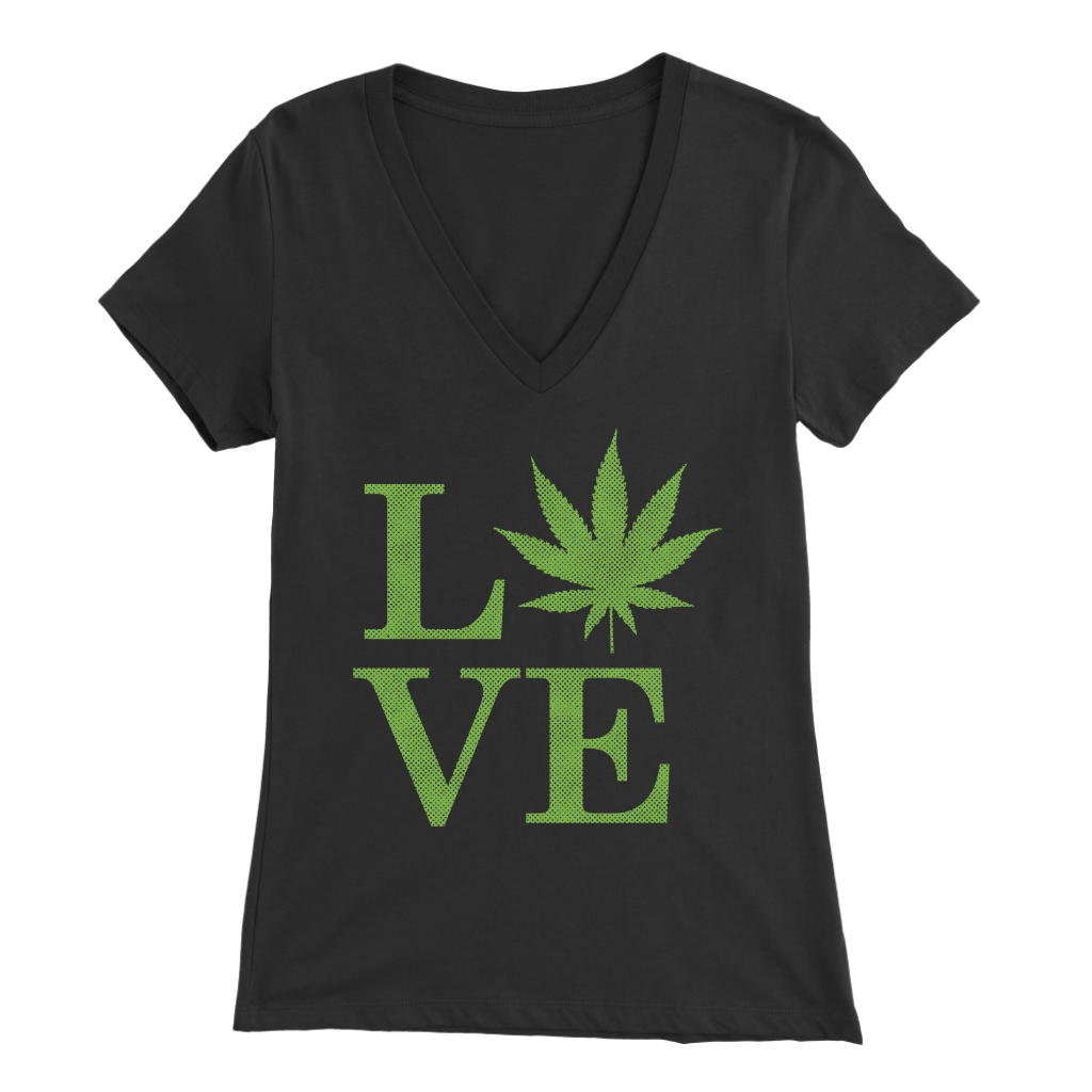 LOVE the Leaf - V-Neck Tee