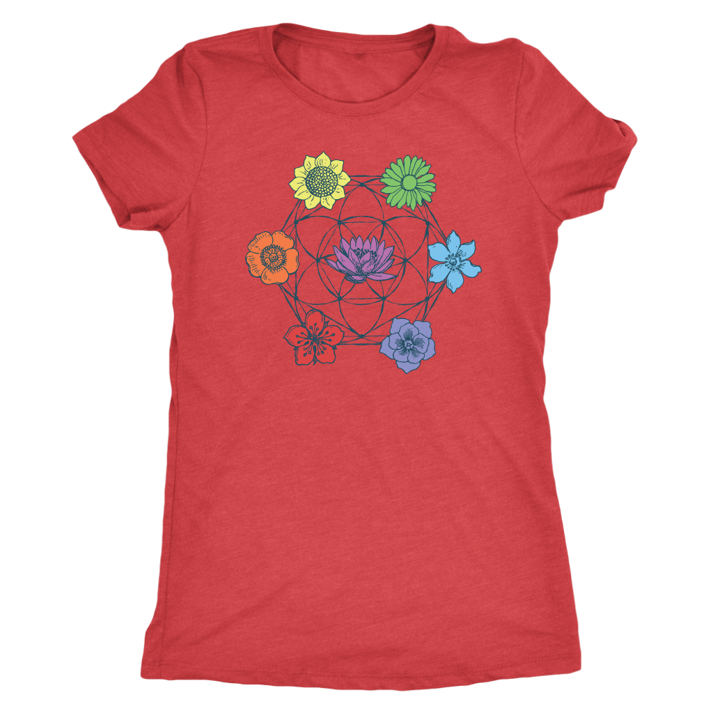 7 Chakra Flower of Life - Women's Tee