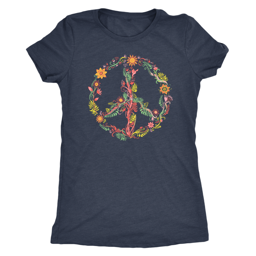 Sunny Flowers Peace Sign - Women's Tee