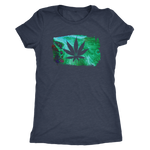Acid Paint Stroke Weed Leaf - Women's Tee