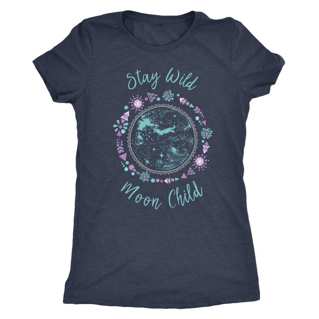 Stay Wild, Moon Child - Triblend Tee