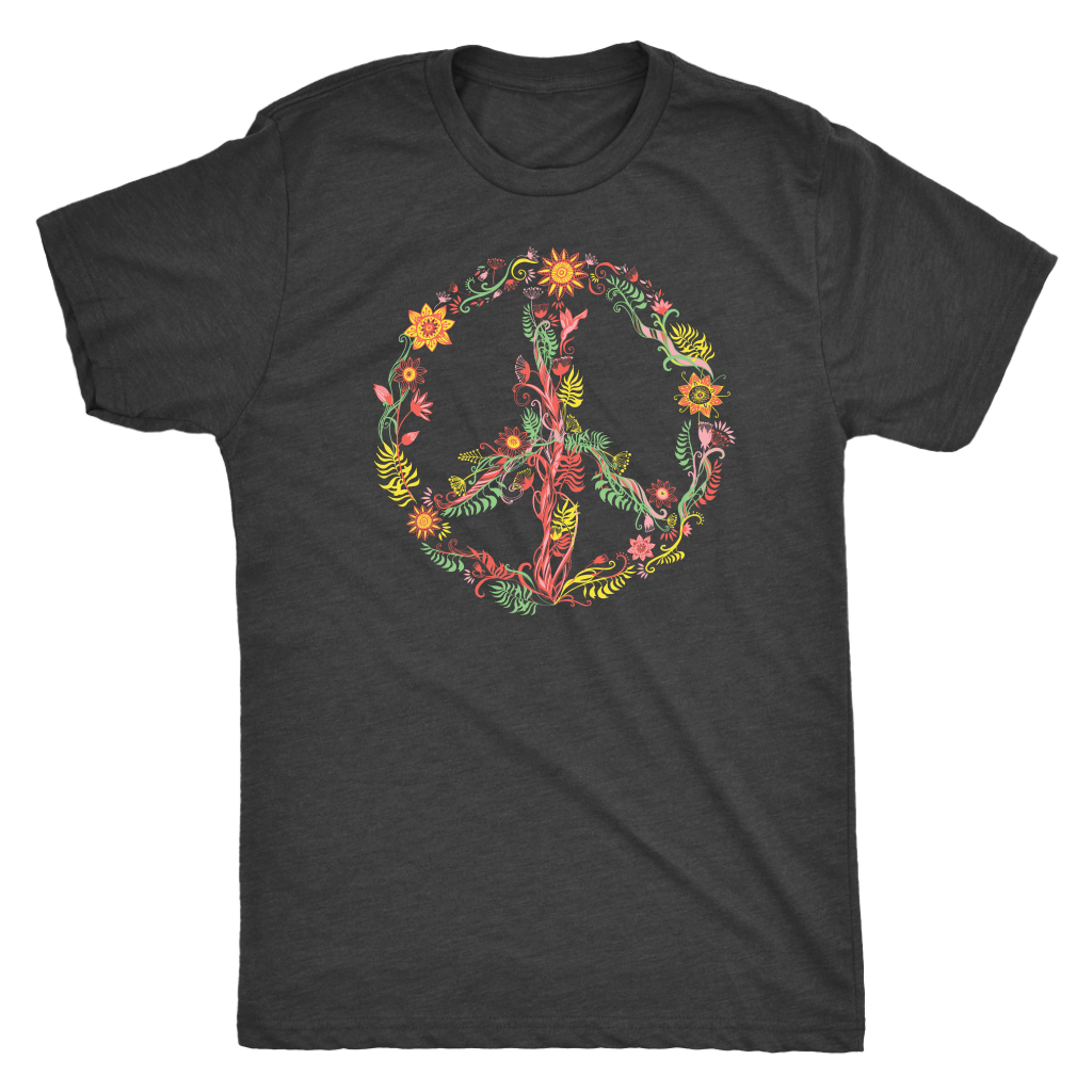 Sunny Flowers Peace Sign - Unisex Tee
