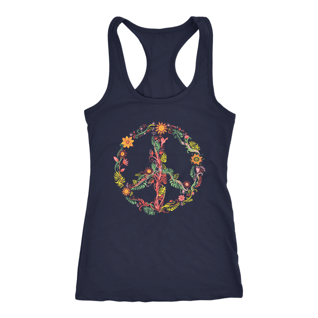 Sunny Flowers Peace Sign - Tank Top