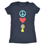 Peace Love Shrooms - Ladies Triblend Shirt