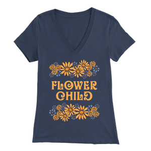 Flower Child - V-Neck Tee