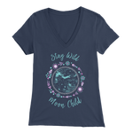 Stay Wild, Moon Child - V-Neck Tee