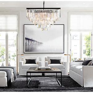 Transitional Odeon Crystal Chandelier Foyer Pendant Lamp