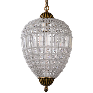 Retro Royal Cooper Crystal Chandelier