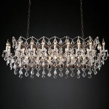 Load image into Gallery viewer, 19th c. Rococo Chandelier Rustic Ceiling Lamp with Premium K9 Crystal