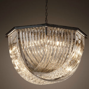 Cross Glass Pendant Lamp Luxury Crystal Chandelier 60/80cm