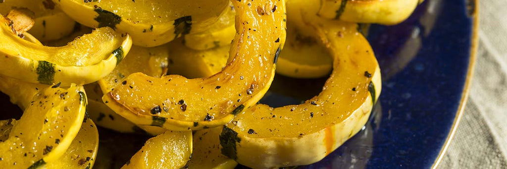 Delicata Squash with Red Onion