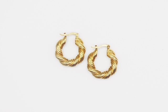 Twisted Mini Hoops