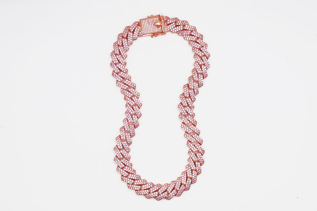Rose Gold/Pink Miami Cuban link