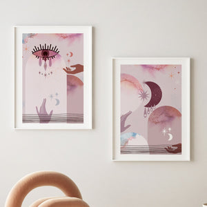 Pink Moon series set of 2