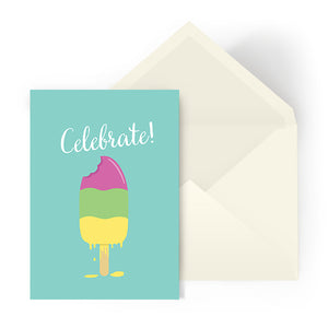Celebration card - Ice cream melt
