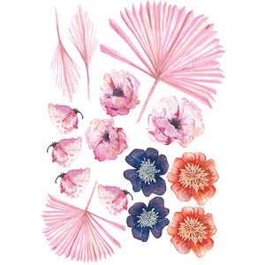Pea's Peony Cut-and-Stick Set