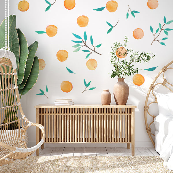 Orange Citrus wall Decal set