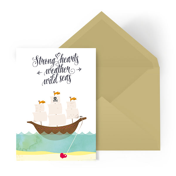 Celebration card - Strong hearts weather wild storms