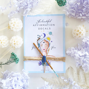 Manifesting your dream life - BLUE- Affirmation Set