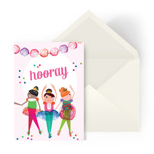 Celebration card - Little dancers