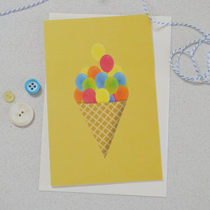 Celebration card - Ice-cream balloons