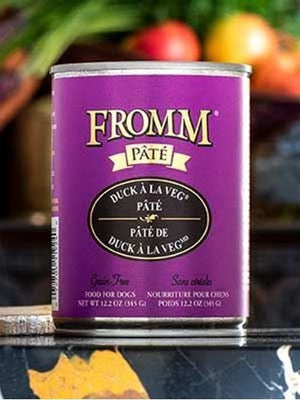 Fromm Pate Grain Free Duck a la Veg Canned Dog Food 12 oz.