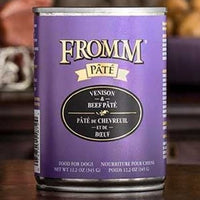 Fromm Gold Venison and Beef Pate Canned Dog Food 12 oz.