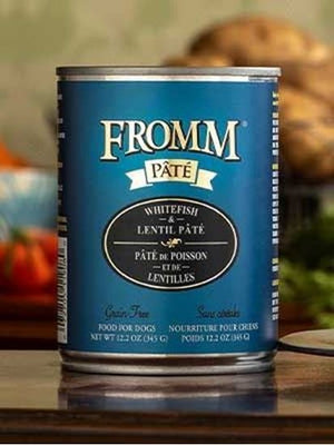 Fromm Pate Whitefish and Lentil Canned Dog Food 12 oz.