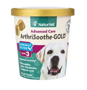 NaturVet Arthrisoothe Gold 3 Level Soft Chews for Dogs 70 ct.