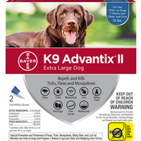 K9 Advantix II for Extra Large Dog Breeds 2 Pack - Blue