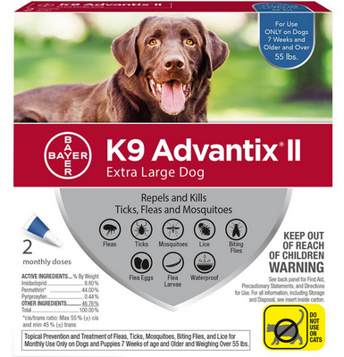 K9 Advantix II  X-Large Dog 2 Pack