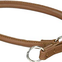 Dogline 24 in. Leather Martingale Collar